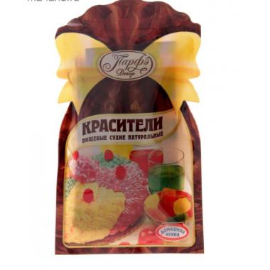 Красители пищевые сухие натуральные 6 шт.