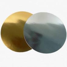 Подложка d- 15 см., двухсторонняя (золото/серебро) 0,8 мм..