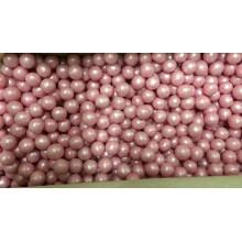 Взорванные зерна риса в цветной глазури,Розовый, 12-13 см, 100 гр.