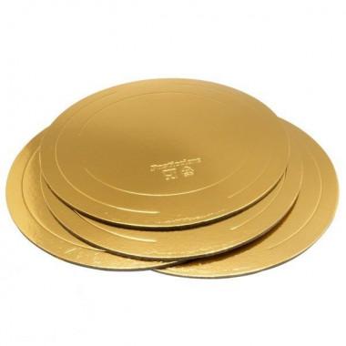 Подложка d- 24 см., золото, 2,5 мм..