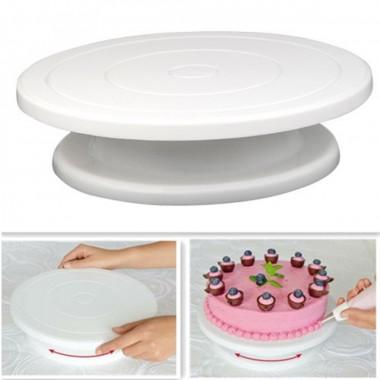 Подставка для торта вращающаяся, диаметр 28 см.