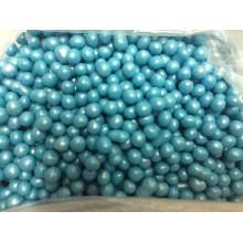 Взорванные зерна риса в цветной глазури, голубой, 100 гр.