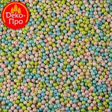 Шарики перламутровые голубо-зелено-розовые , 50 гр.