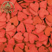 Сердечки красные большие, 50 гр.