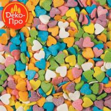 Сердечки разноцветные, 50 гр.