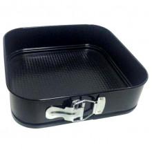 Форма для выпечки разъемная с а/п покрытием квадратная 24*24*6,5 см.