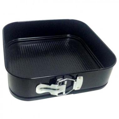 Форма для выпечки разъемная с а/п покрытием квадратная 28*28*7 см.