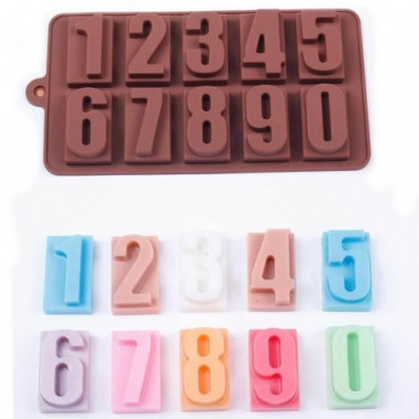 Молд для мастики и шоколада Цифры