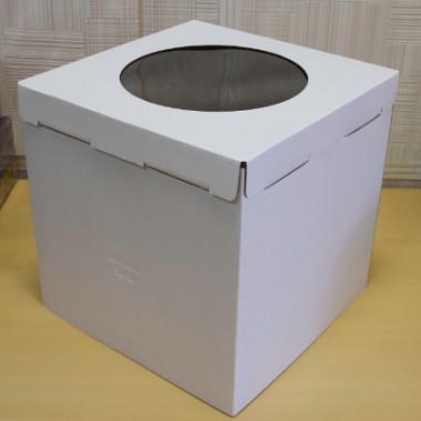 Короб с окном  для кондитерских изделий 300*300*300