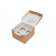 Упаковка для маффинов на 4 шт.