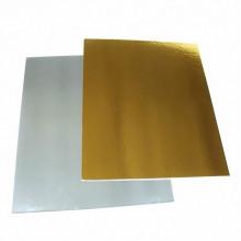 Подложка прямоугольная 370 мм*280 мм., двухсторонняя (золото/белая) 1,5 мм..