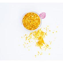 Блестки пищевые Sweety Kit, Оранжевый 3-5 мм.