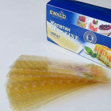 Желатин листовой EWALD, Германия. 1 лист- 5 гр.